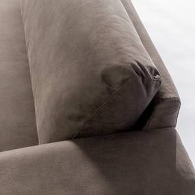 Dimehouse | Bank Mats 3-zits zithoogte 47 cmzitdiepte 57 cmhoogte 86 cmdikte taupe zitbanken microleder banken meubels | NADUVI outlet