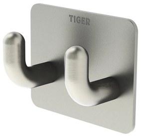 Dubbele Haak Tiger Pinky Metaal RVS