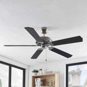 Rohne plafondventilator, mat nikkel - lampen-24