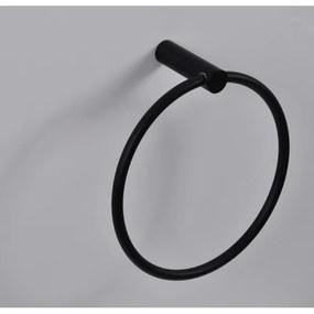 Wiesbaden Ida handdoekring 15.6cm mat zwart 28.5055