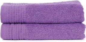 The One Towelling 2-PACK: Handdoek Basic - 50 x 100 cm - Paars