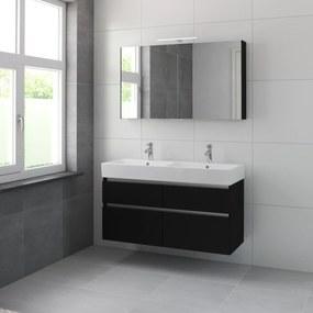 Passo meubelset spiegelkast 120cm zijdezwart