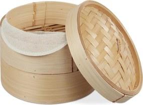 Stoommandje bamboe - rijst stomer - mandje om te stomen - 2 laags - 20.5 cm