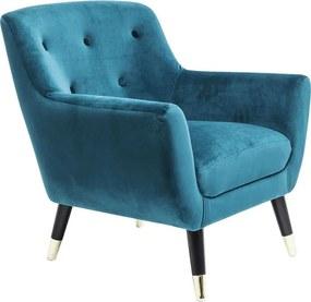 Kare Design Olga Fauteuil Retro Blauw