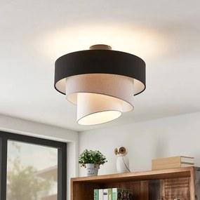Coria plafondlamp, zwart en grijs - lampen-24
