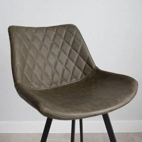 Dimehouse   Barkruk Juno breedte 50 cm x diepte 55 cm x hoogte 70 cm groen barkrukken kunstleer meubels poefs & krukken   NADUVI outlet