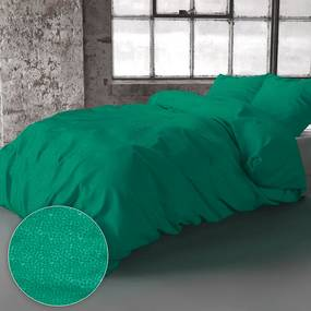 Zensation Bologna - Groen 1-persoons (140 x 220 cm + 1 kussensloop) Dekbedovertrek