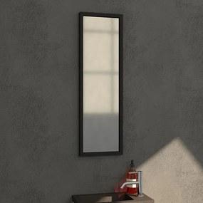 Badkamerspiegel Silhouette 25x80x2.5cm Geborsteld Aluminium Lijst Zwart