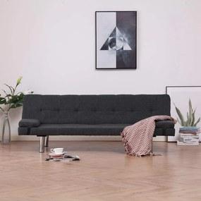 Medina Slaapbank met twee kussens polyester donkergrijs