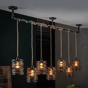 7-delige Metalen Hanglamp