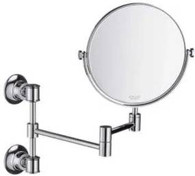 Montreux make-up spiegel uittrekbaar 17 cm, chroom
