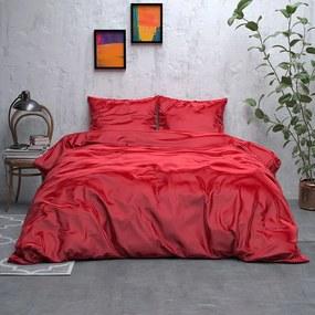 Sleeptime Elegance Satijn Geweven Uni - Rood 2-persoons (200 x 220 cm + 2 kussenslopen) Dekbedovertrek