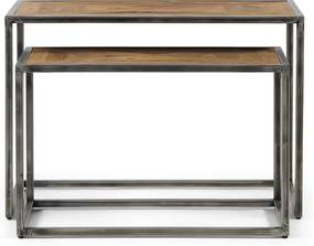 Rivièra Maison - Le Bar Americain End Table S/2 - Kleur: grijs