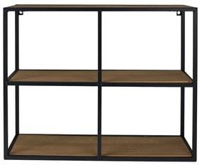 Wandkastje met 3 planken - MDF/metaal - 63x20x50 cm
