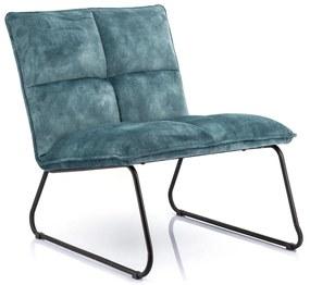 Eleonora Ruby Fluwelen Design Fauteuil Blauw