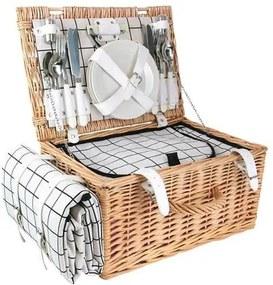 Picknickmand met Inhoud 4-Persoons - 40 x 28 cm