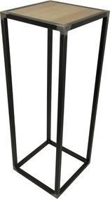 Spinder Design Diva Zuil Houten Inleg Onbewerkt Staal - 40 X 40cm.