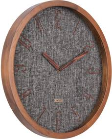 Karlsson | Wandklok Canvas melange diameter 35 cm x hoogte 4 cm zwart klokken textiel, hout decoratie wanddeco | NADUVI outlet