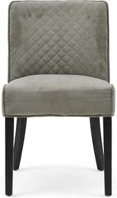 Rivièra Maison - Bridge Lane Dining Chair Diamond Stitch, italian rib, mouse - Kleur: grijs