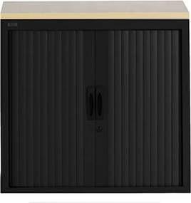 Roldeurkast Proline 74 x 80 cm incl. 1 legbord - Zwart