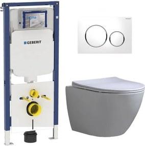 Geberit UP720 Toiletset - Inbouw WC Hangtoilet Wandcloset Rimfree - Shorty Flatline Sigma-20 Wit
