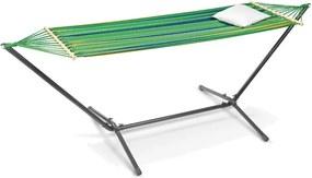 Hangmat met onderstel groen gestreept