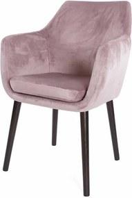 Eetkamerstoel Lois - Fluweel - Roze