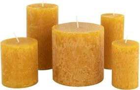 Rustieke Kaarsen Okergeel (okergeel)