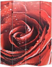 Kamerscherm inklapbaar roos 160x170 cm rood