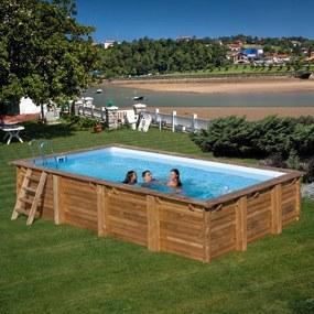 Zwembad Loire set grenen rechthoek 600