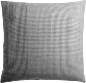 Kussen grijs, alpaca wol: Horizon, vierkant Met binnenkussen 50 x 50 cm