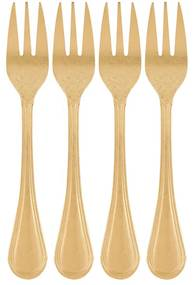 Excellent Houseware gebaksvorkjes - mat goud - set van 4