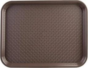 Dienblad plastic 305 x 415mm bruin
