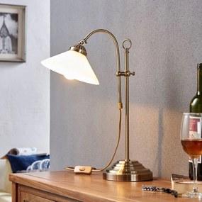 Klassieke tafellamp Otis in oud-messing - lampen-24