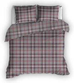 Romanette Mellrose - Rood - Flanel Lits-jumeaux XL (270 x 200/220 cm + 2 kussenslopen) Dekbedovertrek