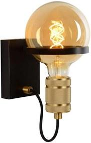 Lucide wandlamp Ottelien - zwart - Ø17,5x21,8 cm - Leen Bakker
