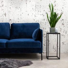 Dimehouse | Hoekbank Peppin links velours zithoogte 46 cmzitdiepte 59 cmhoogte 85 cmdikte blauw zitbanken velours stof banken | NADUVI outlet