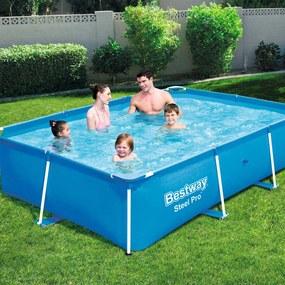Zwembad met stalen frame 259x170x61 cm 56403