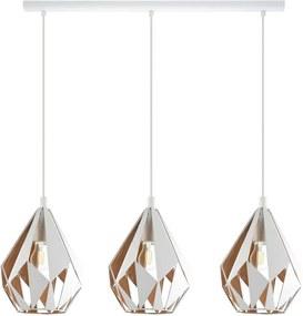 EGLO hanglamp 3-lichts Carlton 1 - wit/goud - Leen Bakker