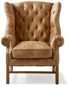 Rivièra Maison - Franklin Park Wing Chair, pellini, camel - Kleur: bruin