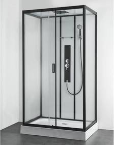 Douchecabine Allibert Uyuni Rechthoek Schuifdeur 120x80x225cm Helder Glas Antikalk Mengkraan Hoofddouche en Handdouche