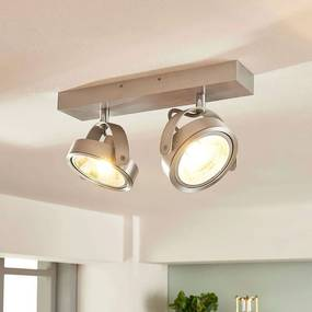 Aluminium spot Lieven met twee lampjes en G9 LED