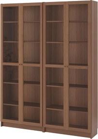 IKEA BILLY / OXBERG Boekenkast 160x202x28 cm Bruin/essenfineer glas Bruin/essenfineer glas - lKEA