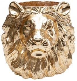 Kare Design Lion Gold Leeuwenkop Plantenbak Goud