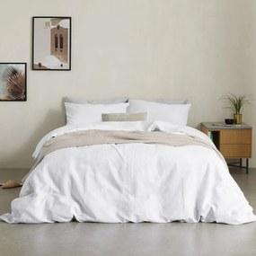 Tira dekbedset van katoen en linnen met 2 kussenhoezen, tweepersoons, wit