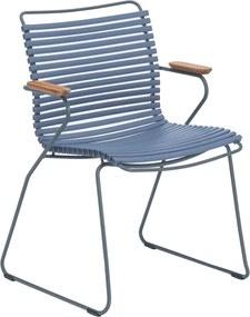 Houe Click Armchair tuinstoel pigeon blue set van 2
