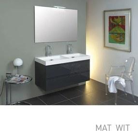 INK X Ray badmeubelset greeploos inclusief spiegel 120cm mat wit SW17744