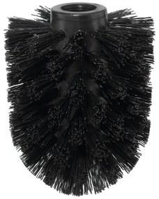 Tesa vervanging kop voor Toiletborstel Zwart Chroom 15.5x19x7.5cm zonder boren Verchroomd metaal Kunststof 40332-00000-00