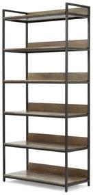 Lomond modulaire boekenkast, mangohout en zwart