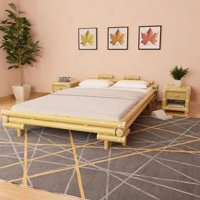 Bedframe bamboe 140x200 cm